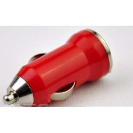 Car Charger / USB / Cigarette Lighter - RED