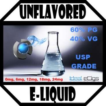 * Unflavored Nicotine E-Liquid Juice - 60/40 PG/VG